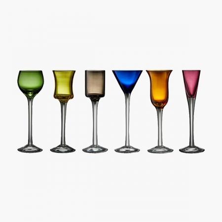 Snapseglas Lyngby p/fod (6 forskellige)