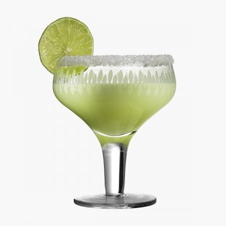 Retro Margarita glas med mønster 28 cl (6 stk.)