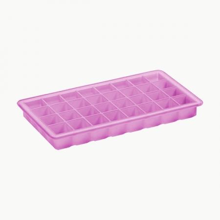 """Isterningebakke silikone , pink """"Terninger"""" 2x2 cm 32 stk."""