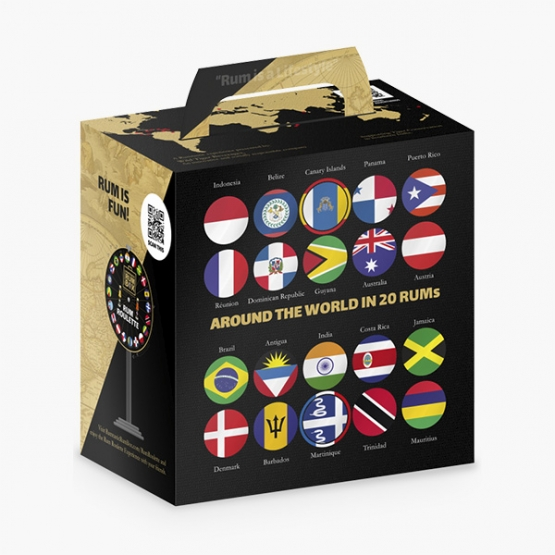"Smagekasse med rom ""The Rum Box"" (20 x 2 cl)"