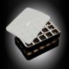 """Isterningebakke silikone med låg """"Terninger"""" 3x3 cm 20 stk."""