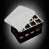 """Isterningebakke silikone med låg """"Terninger"""" 4x4 cm 12 stk."""