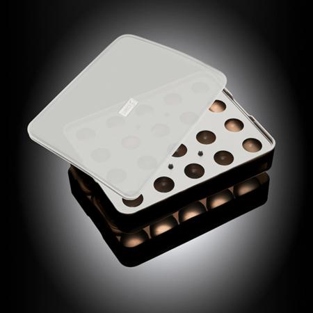 """Isterningebakke silikone med låg """"Kugler"""" Ø3 cm 20 stk."""